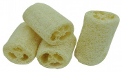 Natural Petting Loofah Exfoliating Sponge for Skin Care in Bath, Spa or Shower - Pack of 4