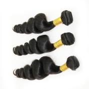 Brazilian Virgin Hair Loose Wave Hair Weave 3 Bundles 300g Unprocessed Loose Deep Wave Virgin Human Hair Weave Natural Black 25cm - 70cm