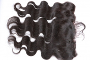 Freyja Hair Brazilian Virgin Hair Silky Full Lace Frontal Closure 13x 4 Human Hair Closure With Baby Hair,Brazilian Body Wave Top Lace Frontals Closure Part 20cm - 50cm Naturl Black Bleached Knots