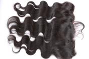 Freyja Hair Brazilian Virgin Hair Silky Full Lace Frontal Closure 13x 4 Human Hair Closure With Baby Hair,Brazilian Body Wave Top Lace Frontals Closure Part 20cm - 50cm Naturl Black Bleached Knots