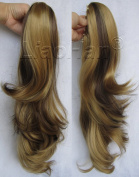 Liaohan® Long Wavy Ponytail Hair Claw on Ponytail Extensions Highlight Pony Tail 22H6 Mixed Brown Hair Tail