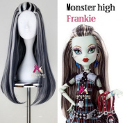 Xcoser Monster Cosplay High Anime Frankie Stein Womens Wig Hair for Halloween