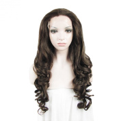 Lace Wig Long 70cm Wave Heat Resistant Synthetic Lace Front Wig Brown