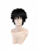 Akaya Kirihara Japan Anime Prince of Tennis Short Straight Black Men's Cos Wigs
