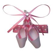 Bows for Belles White Ballet Slipper Hair Clip Sculpture
