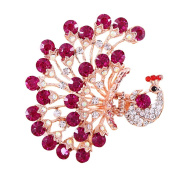 Korean Style Vintage Jewellery Crystal Purple Peacock Hair Clips for Women Head Wear Beauty Tools