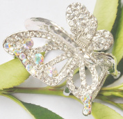 New Crystal high quality Metal Butterfly/flowers Hair Claw Clip Pin
