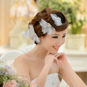Exquisite 3 Pcs set Crystal Bridal Flower Hair Clips