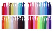 hiLISS HA061006-3 40pcs Hair Bands Ponytail Holders with Free Gift of 20pcs 6.1cm Black Flat Hair Bobby Pins