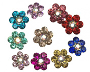 Moeni Bridal Wedding Prom Crystal Rhinestone Hair Styling U Pins - 10 Pins