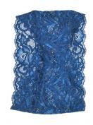 Zaffron Women's Gathered Lace Under Hijab Headband Blue