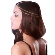 OVERMAL Fashion Women's Crystal Rhinestone Beads Headband Hair Band