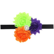 Sunward Lovely Kids Baby Girls Headdress Infant Bowknot / Halloween Pumpkin/ Flower Hair Band Headband Hairband