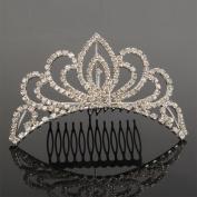 Crazy K & A Mini 10cm Charming Rhinestone Tiara Crown Headband Comb Pin