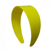 Yellow 5.1cm Hard Plastic Headband with Teeth Women and Girls wide Hair band