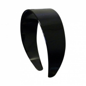 Black 5.1cm Hard Plastic Headband with Teeth Women and Girls wide Hair band