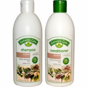 Nature's Gate All Natural Organic Revitalising Jojoba Shampoo and Conditioner Bundle With Anti-Dandruff Flaky Scalp Treatment, Jojoba, Witch Hazel, Borage, Rosemary, Mint and Nettle, 530ml each