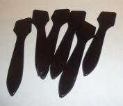 Glossy Black Slant Tip Spatula for Makeup Crafts [Bag of 100]