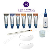 Berrywell Augenblick Cream Hair Dye Tint Kit (10 Pcs.) Professional Set from Germany. Includes