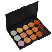LEFV™ Professional 15 Concealer Camouflage Makeup Palette Highlighter Cosmetic Kit Cover Speckled Freckle