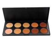 Kolight® Pro Mixed 10 Colour Cream Concealer Palette Foundation Makeup Set Face Contouring Kit