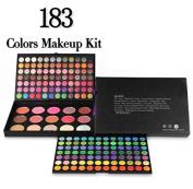 Kolight® Professional 183 Colour Cosmetic Makeup Sets-168 Colour Eye Shadow 10 Colour Blush 5 Colour Foundation Powder