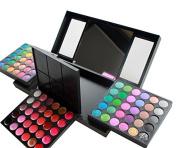 Kolight® Professional 156 Colour Cosmetic Makeup Sets-120 Colour Eyeshadow Eye Shadow 30 Colour Lip Gross 3 Colour Blusher 3 Colour Foundation Powder