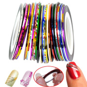 Mixed Colours Rolls Striping Tape Line DIY Nail Art Tips Decoration Sticker