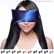Unscented Eye Pillow - Yoga Eye Pillow for Stress & Migraine Relief - Eye Pillows Made in USA. Use Hot or Cold for Stress Relief, Headaches, Sinus Pain & to Relax. By Happy Wraps® The Perfect Gift!