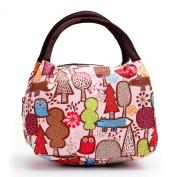 Cute Colourful Nylon Zipper Portable Cosmetic Lunch Picnic Handbag Bag