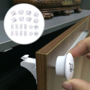 Magnetic Cabinet Locks for Baby Care Child Proofing - No Tools Needed