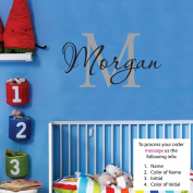 Morgan Wall Decal Childrens Personalised Name - Childrens Wall Art - Boys Name Wall Decal - Monogram - Nursery Decor