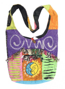 KayJayStyles Sun Moon Hippie Boho Slouch Bag Sling Nepal Cross Body Bag