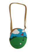 Green Golf Course Theme Cross Body Purse
