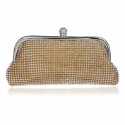 Afibi Rhinestones Crystal Clutch Evening Bag Womens Hangbag