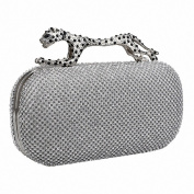 Afibi Rhinestones Leopard Evening Bag Purses Clutch Bag Handbag