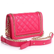 The Tanya Royal Blue/Black/ Hot Pink/White Nappa Leather Handbag by Greg Michaels