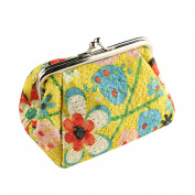 Bluelans® Women's Cute Embroidered Hasp Purse Wallet Card Key Coin Bag Pouch Case