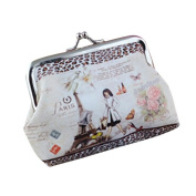 Bluelans® Women's Flower Printed Hasp Zero Purse Clutch Bag Key Coin Card Holder Wallet