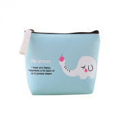Bluelans® Cute Cartoon Girls Lady Canvas Purse Wallet Card Key Coin Bag Pouch Case