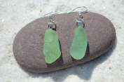 Genuine Sea Foam Sea Glass Sterling Silver Earrings
