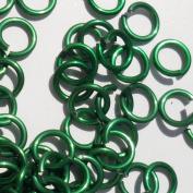 GREEN Anodized Aluminium Jump Rings 500 5/32 18g SAW CUT