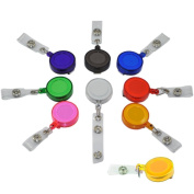 vanki 9 Colours X Id Badges Card Holder Office Retractable Reel Key Clip Holders