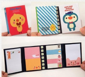 vanki 2 x Lovely Cute Cartoon Post-It Note Bookmarker Sticky Notes Memo Note for Women, Girl as a Gift