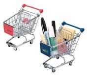 vanki Mini Shopping Cart Pen Holder Desk Accessory
