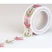 Carta Bella Paper Company Happy a Merry Christmas Words Decorative Tape