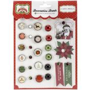 Carta Bella Paper Company Happy a Merry Christmas Decorative Brads