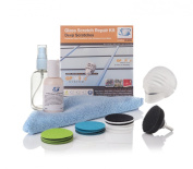 """Glass Scratch Repair DIY Kit, GP-WIZ System - Removes Scratches, Scuffs, Sand Paper Damage, Water Damage - 2"""" 50mm Components"""