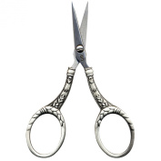 Heirloom 10cm Stainless Steel Embroidery Scissors Silver Colour Round Handle