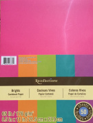 Recollections Cardstock Paper, Brights 22cm X 28cm